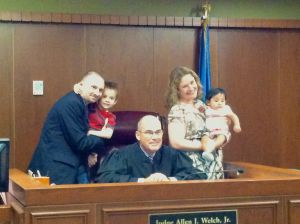 The Adoption was made legal today (8-14-2013)